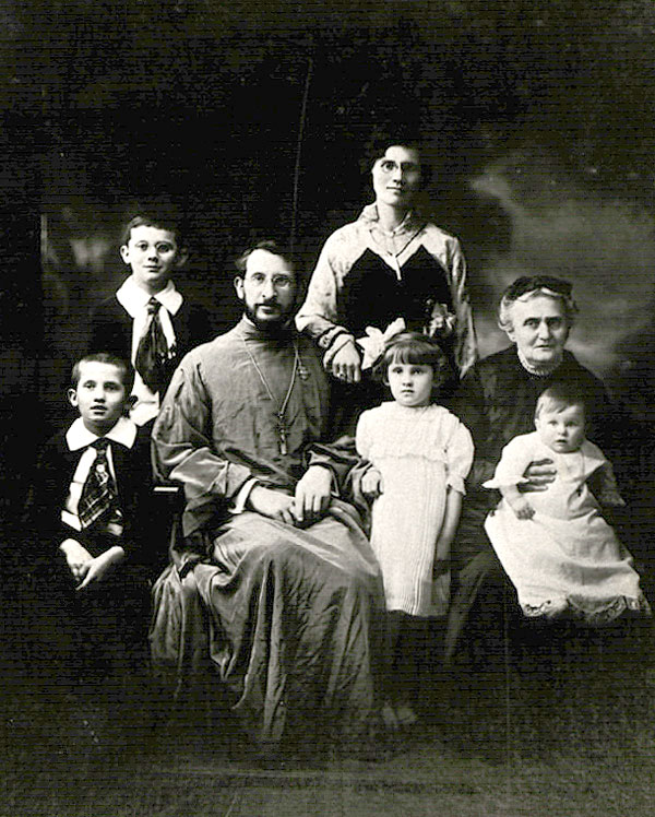 A young Father Leonid Turkevich (later Metropolitan Leonty) and his family.